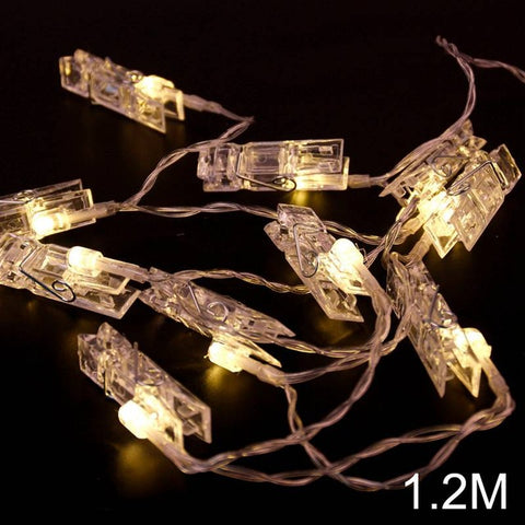 Image of 10 LED Photo Clip String Lights - TU