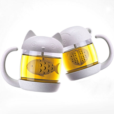 Image of Cat Mug With Filter Coffee Tea 250ml - K