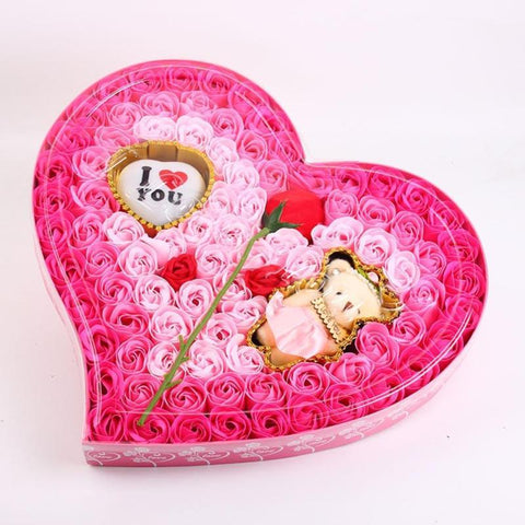 100Pcs/Box Rose Soap Bouquet Gift - Valentine Special Collection