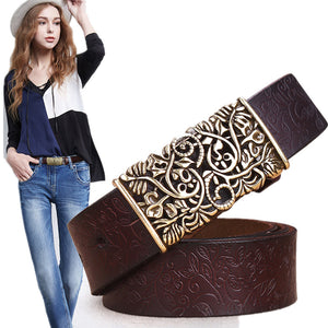 Belts Genuine Cowskin Leather For Women - M