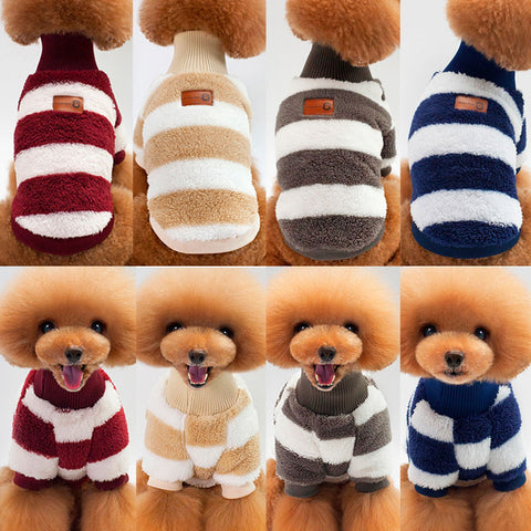 Pet Clothes Warm Soft Sweater Puppy Outfit For Winter - TK