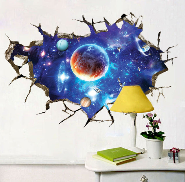 3D Wall Stickers Cosmic Space Galaxy 1 - K