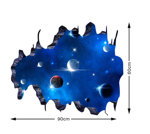 Image of 3D Wall Stickers Cosmic Space Galaxy - K
