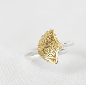 Yellow Leaf Rings For Women - M