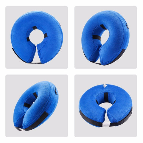 Protective Inflatable Collar for Dogs - Soft Pet Recovery Collar Does Not Block Vision