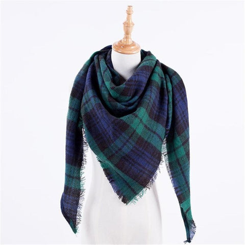 Image of Autumn Plaid Wool Scarves - M1