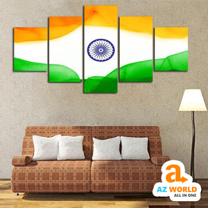 India Flag Canvas Wall Art - M