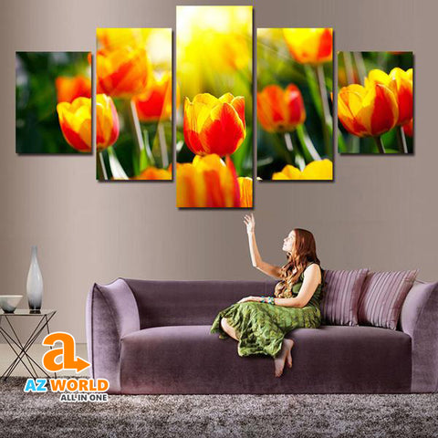 Tulip & Sunshine Canvas Wall Art - M