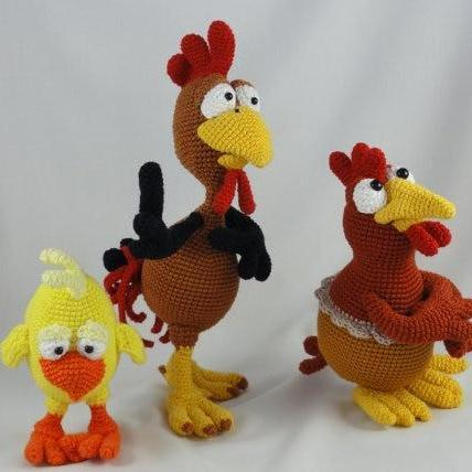 Amigurumi Wool Crochet Chicken Doll Handmade