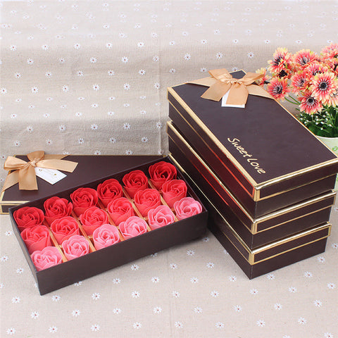 18Pcs Scented Rose Flower Soap - Valentine Special Collection