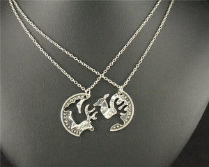 Buck and Doe Canadian Quarter Puzzle Charm Pendant Necklace - N