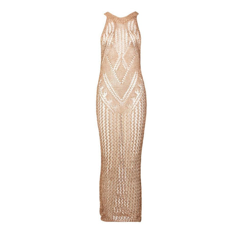 Rose Gold Crochet Dress
