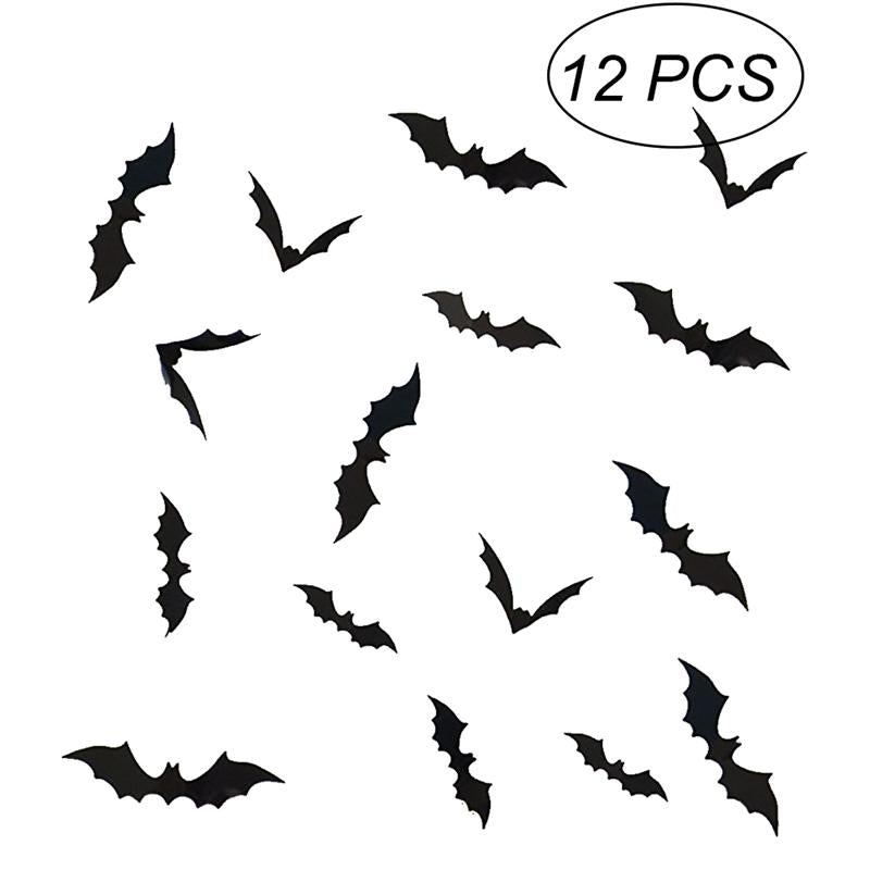 3D Bat Wall Stickers Halloween Horrible Wall Decals - NA