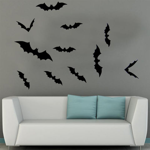 Image of 3D Bat Wall Stickers Halloween Horrible Wall Decals - NA
