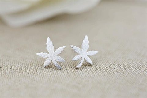 Image of Canada Maple Leaf 925 Sterling Silver Earrings - N