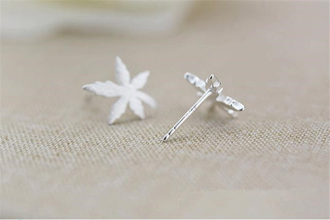 Canada Maple Leaf 925 Sterling Silver Earrings - N