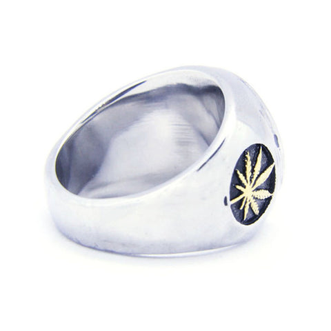 Image of Canada Maple leaf Ring Stainless Steel - N
