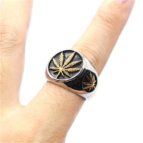 Canada Maple leaf Ring Stainless Steel - N