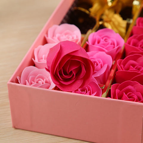 14pcs Artificial Rose Soap Flowers - Valentine Special Collection