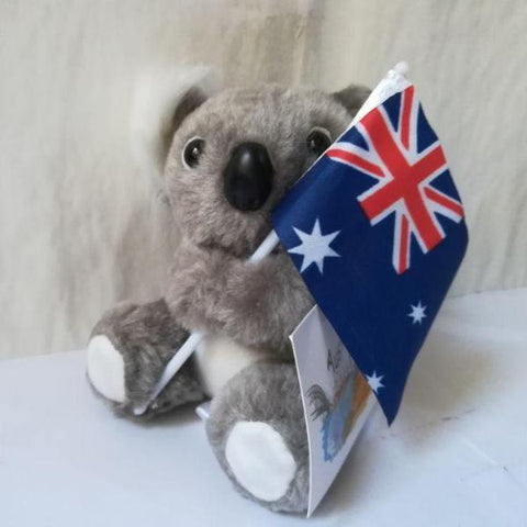 Image of AUSTRALIA Cute Koala Plush Toy Flag Gift - Y7
