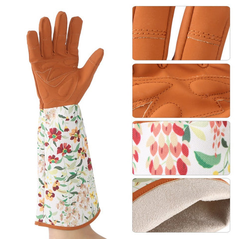 1 Pair of Long Sleeve Gardening Gloves Hands Protector