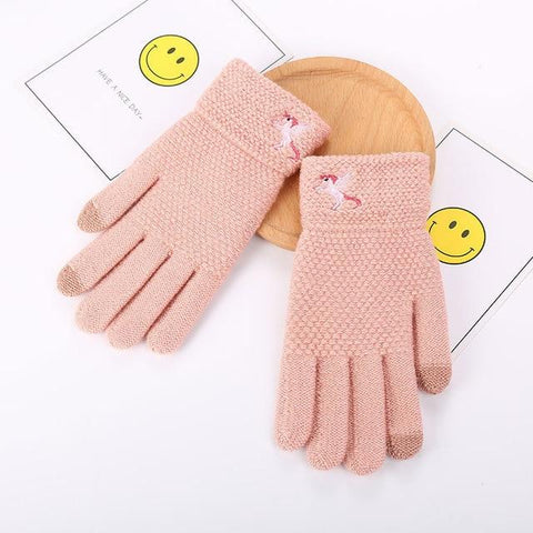 Womens Gloves Knitted Winter Outdoor