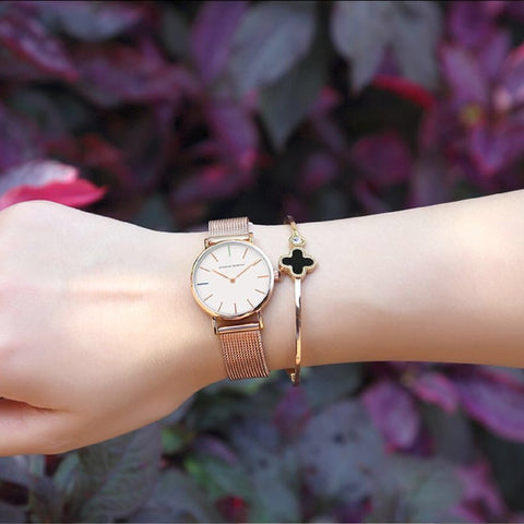 Watch Set Japan Quartz Movement With Rose Soap - Valentine Special Collection