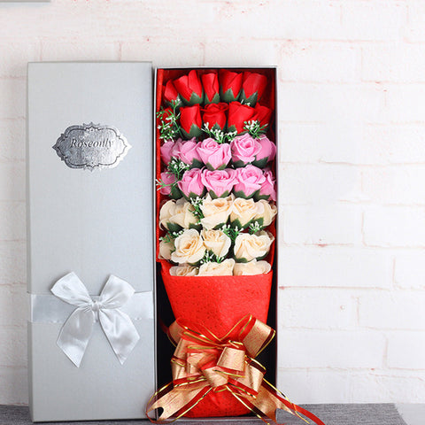 33pcs European Artificial Flower Gift Box - Valentine Special Collection