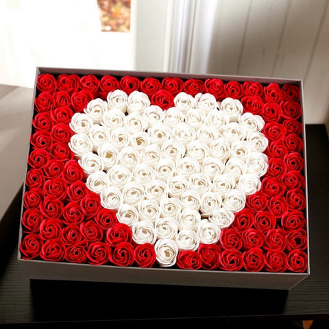 Big Rose Soap Flowers - Valentine Special Collection