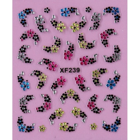 1 3d Nail Art Sticker Nails Decal|  Butterfly and Flower with Rhinestones Manicure Tools