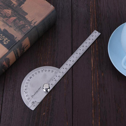 0-180 Degree Angle Ruler Stainless Steel | Adjustable Angle Measure Tools