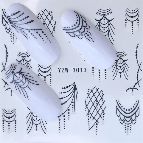 1 PC Nail Sticker Black Butterfly