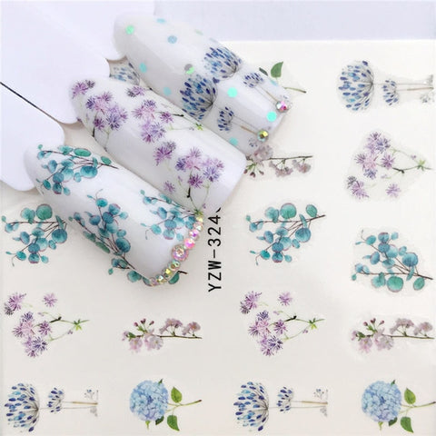 1 PC Flower / Animal Designs Water Transfer Sticker Nail Art