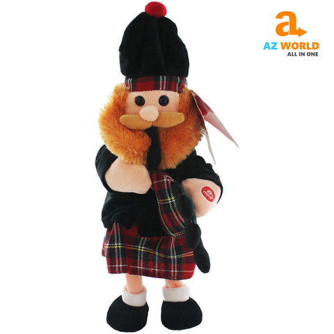 Image of dancing scotsman,bagpipes,tartan,scottish scotsman,scotland scotman ,play scotland the brave,scottish toy,scotland toy,dancing scotsman toy