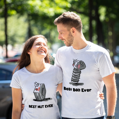 Image of Funny Mechanic Couple T-shirts - Y7
