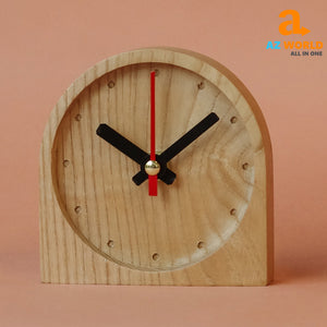 Natural Wooden Handcrafted Circle Clock - M