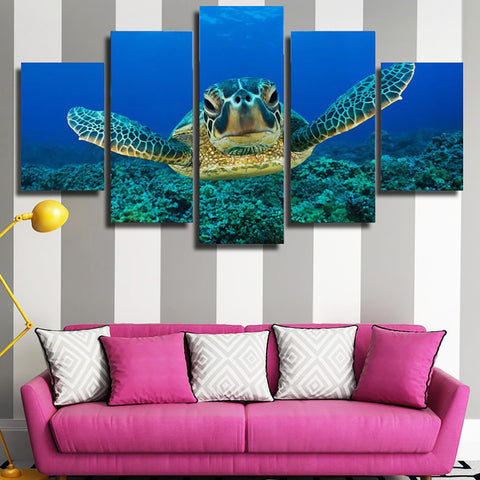 Sea Turtles Canvas Wall Art - M2