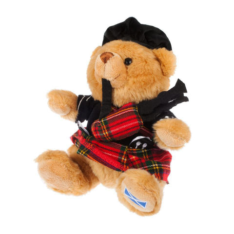 Cute Scottish Bear With Bagpipes  - Y7