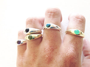 Ethical Gemstone Stacking Rings