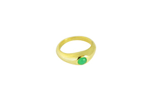 Chrysoprase Stirrup Ring