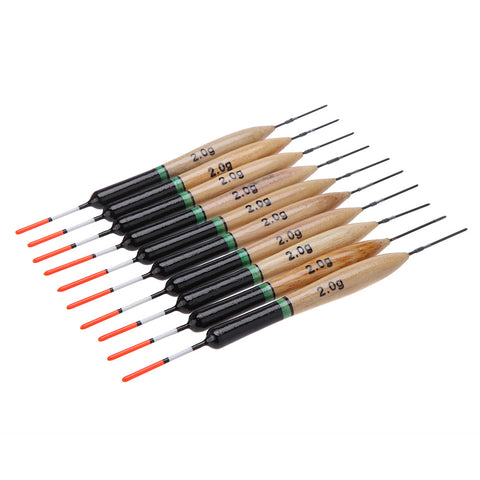 10Pcs/set Fishing Floats made of wood Paulownia high quality.