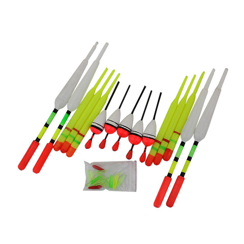 1 set (15Pcs) Vertical Buoy Sea Fishing Floats