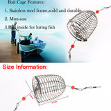 10pcs/Lot Fishing Lure Feeder Stainless Steel Lures Cage Artificial Bait