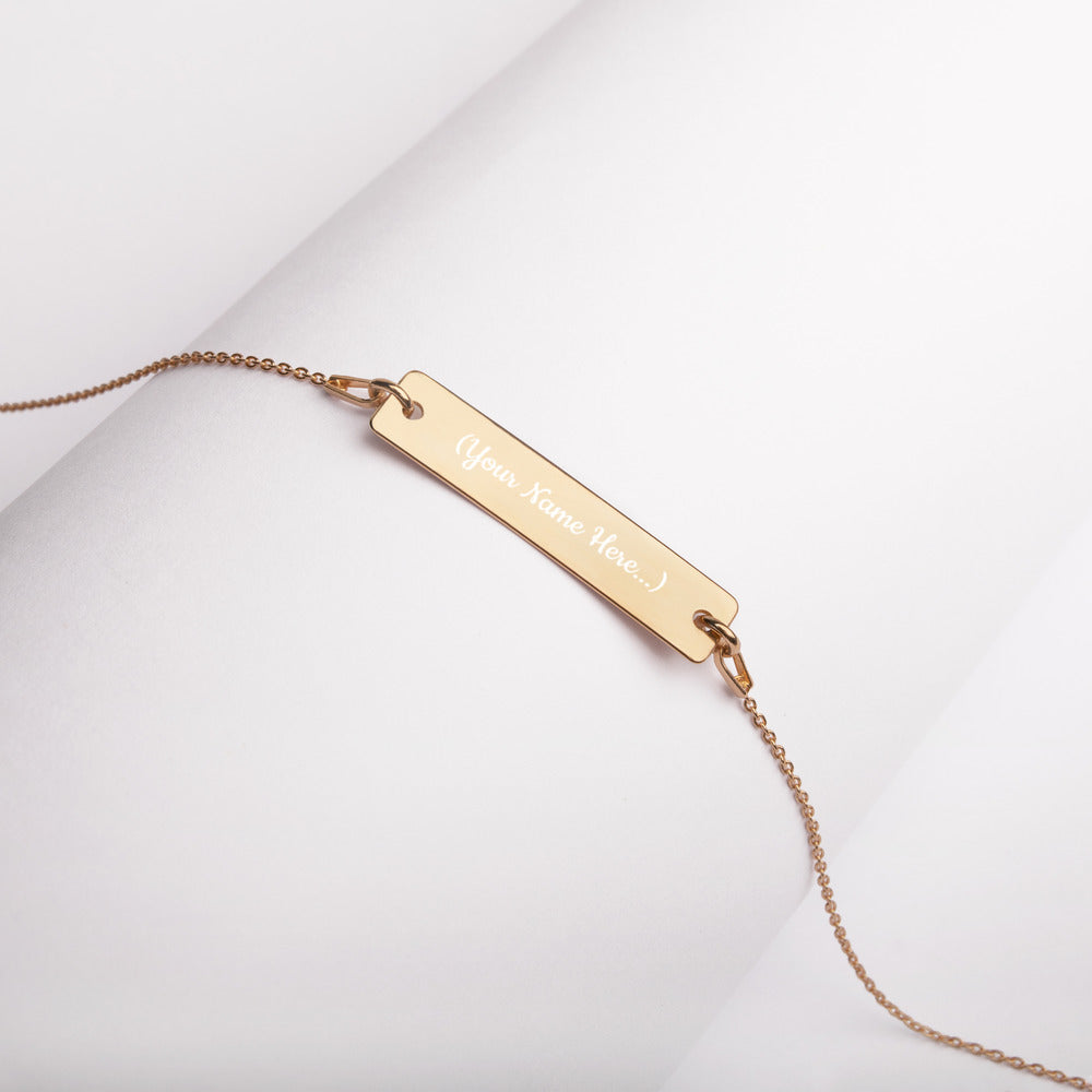 Your Name On It - Engraved Bar Chain Necklace