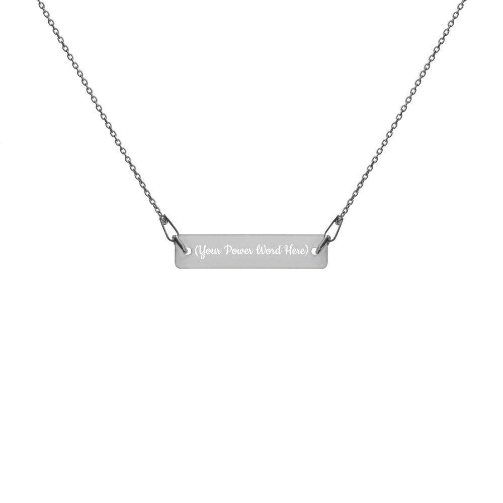Your Power Word - Engraved Bar Chain Necklace