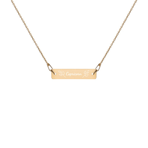 It's Your Birthday Zodiac - Engraved Bar Chain Necklace