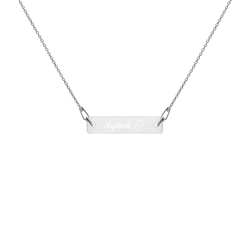 You're a Mystical Unicorn - Engraved Bar Chain Necklace
