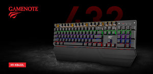 Tastatura Mecanica Gaming, RGB, Havit Gamenote KB432L Rainbow, USB 2.0, Neagra
