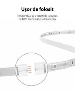 Extensie banda LED Xiaomi Yeelight Lightstrip Plus, 2.1W, 1m