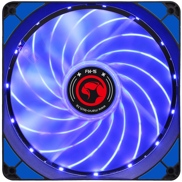 Ventilator 140 mm Marvo FN-15 blue LED
